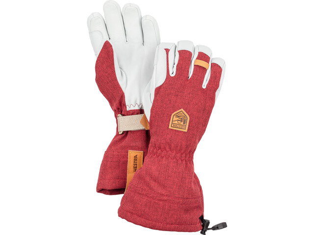 Hestra M's Army Leather Patrol Gauntlet Gloves Dark Red